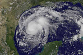 NOAA's GOES-East satellite captured this image of Hurricane Harvey in the western Gulf of Mexico on Aug. 24, 2017.