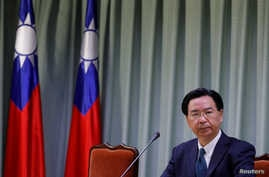 Taiwanese Foreign Minister Joseph Wu attends a news conference, following an agreement by China and the Dominican Republic to establish diplomatic ties, in Taipei, Taiwan, May 1, 2018.