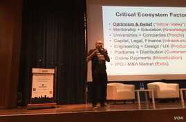Dave McClure, the co founder of 500 Startups, an early stage investment firm, spoke about the immigration executive order on Saturday at the TechWadi Symposium, a gathering of entrepreneurs and investors focused on the Middle East and North African r
