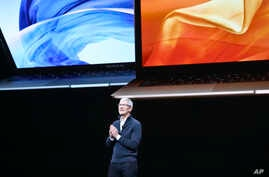 Apple CEO Tim Cook speaks during an event to announce new products, Oct. 30, 2018, in the Brooklyn borough of New York.