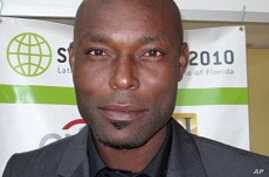 Haitian-born actor Jimmy Jean-Louis of the popular NBC series 'Heroes' at the 'Sustainable Haiti' conference in Miami, 18 Mar 2010