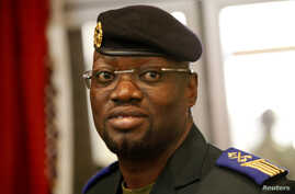 Issiaka Wattao, Deputy Chief of the Armed Forces, is seen at the Felix Houphouet Boigny airport for the return of exiled Ivorian officers in Abidjan, July 29, 2011.