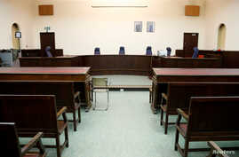 View of a courtroom ahead of the trial of Salah Abdeslam, one of the suspects in the 2015 Islamic State attacks in Paris, at Brussels Palace of Justice, Belgium, Jan. 30, 2018.