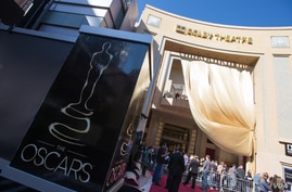 Preparations continue fro the Governors Ball on Thursday, February 22, as part the The Oscars® which will be presented on Sunday, February 24, 2013, at the Dolby® Theatre and televised live by the ABC Television Network.