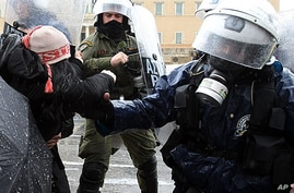 Greek Police Clash with Austerity Protesters