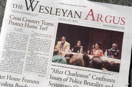 The student government of Wesleyan University considered a decision to remove the funding of its newspaper The Argus after some objected to an opinion piece it published on the Black Lives Matter movement in 2015.