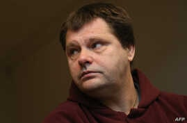 FILE - Imprisoned Belgian serial rapist and murderer Frank Van Den Bleeken attends a hearing to determine if he will be allowed to be euthanised at the Court of Brussels.