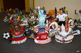 Baloyi has made makarapas for fans of most of the 32 World Cup qualifying nations