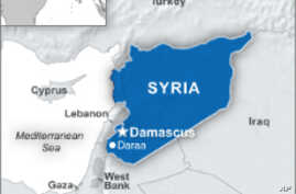 Map of Daraa, in Syria
