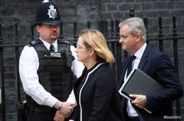 Britain's Home Secretary Amber Rudd arrives in Downing Street for an emergency Cabinet meeting in London,  May 23, 2017.