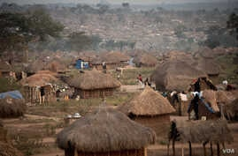 A refugee camp hosting about 30,000 South Sudanese in Aba, Democratic Republic of Congo. (J. Patinkin for VOA)