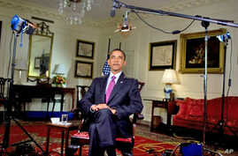 President Obama records his weekly address for 24 Jul 2010