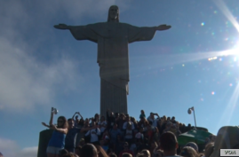 The iconic Christ the Redeemer Statue has been overlooking Brazil's Rio de Janeiro for the past 85 years. (G. Tobias/VOA)