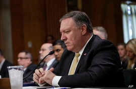"Secretary of State Mike Pompeo answers questions from the Senate Foreign Relations Committee just after President Donald Trump canceled the June 12 summit with North Korea's Kim Jong Un, citing the ""tremendous anger and open hostility"" in a recent st"