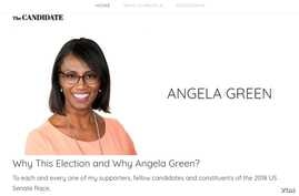 Angela Green, a Green Party candidate for the U.S. Senate from Arizona, is pictured in this screenshot from her campaign website. She was poised to win votes that might have gone to Democrat Krysten Sinema, clearing a path to victory for Republican M