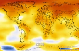 NASA has released a video monitoring Earth's surface temperatures since 1880.