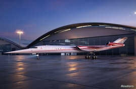 The Aerion AS2, the world's first supersonic business jet, being developed by Lockheed Martin Corp partnering with plane maker Aerion Corp of Reno, Nevada, is shown in this handout photo illustration released, Dec. 15, 2017.