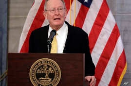 U.S. Sen. Lamar Alexander, R-Tenn., speaks at the unveiling of the official portrait of Tennessee Gov. Bill Haslam, Dec. 17, 2018, in Nashville, Tennessee.