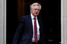 Britain's Secretary of State for Exiting the European Union David Davis leaves Downing Street, London, Britain July 11, 2017.