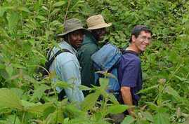 Agricultural researchers in Cameroon