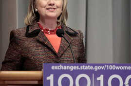 Clinton Launches 100th Anniversary of International Women's Day