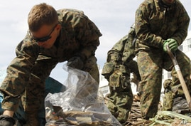 US Military Plays Key Role in Post-Tsunami Clean-Up