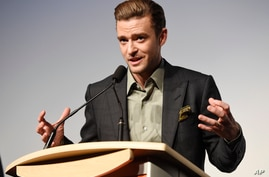"""Justin Timberlake, star of the concert film """"Justin Timberlake + The Tennessee Kids,"""" introduces the film at the premiere on day 6 of the Toronto International Film Festival at Roy Thomson Hall on Tuesday, Sept. 13, 2016, in Toronto."""