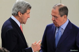 U.S. Secretary of State John Kerry (L) and Russian Foreign Minister Sergei Lavrov are seen in a April 23, 2013, file photo.