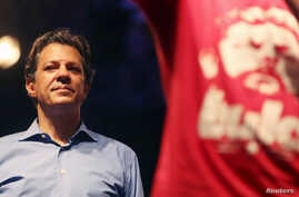 Brazil's Workers Party presidential candidate Fernando Haddad attends a rally in Rio de Janeiro, Brazil Oct. 1, 2018.