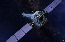 This illustration made available by NASA shows the Chandra X-ray Observatory. On Oct. 12, 2018, the space agency said that the telescope automatically went into so-called safe mode on Oct. 10, possibly because of a gyroscope problem.