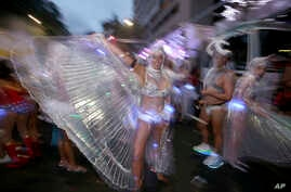 Participants prepare for the annual Gay and Lesbian Mardi Gras parade in Sydney, Australia, March 4, 2017.