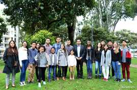 The group of plaintiffs aged 7 to 26 who filed a climate change lawsuit against the Colombian government, Jan. 29, 2018.