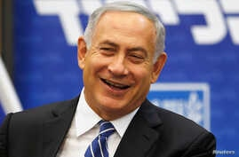Israeli Prime Minister Benjamin Netanyahu attends a Likud party meeting at the Knesset, the Israeli parliament, in Jerusalem, May 30, 2016. A French official has confirmed invitations have been sent to Netanyahu and Palestinian leader Mahmoud Abbas t
