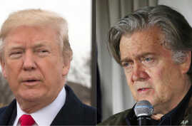 President Donald Trump, left, and former White House Chief Strategist Steve Bannon.