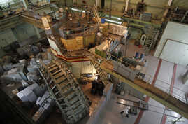 A nuclear reactor is seen at a nuclear research facility in Kyiv, Ukraine, March 23, 2012.