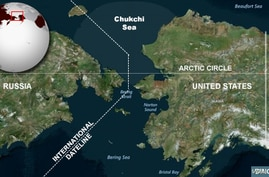 Chukchi Sea, between U.S. and Russia