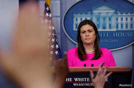 White House Press Secretary Sarah Sanders holds the daily briefing at the White House in Washington, June 25, 2018.