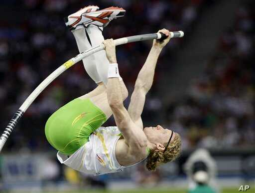 Australia's Steven Hooker, seen here at the World Athletics Championships in Berlin in 2009, used a pole made from carbon fibers to capture the gold at the 2008 Olympics in Beijing.
