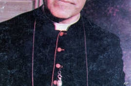 FILE - An undated file photo of Archbishop Oscar Arnulfo Romero, who was gunned down while giving Mass in a San Salvador church on March 24, 1980.