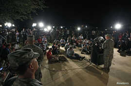 Lt. Gen. Mark Milley addresses the media during a news conference at the entrance to Fort Hood Army Post in Texas, April 2, 2014.