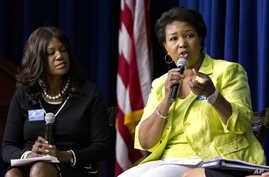 FILE - Mae Jemison, shown at a White House forum in June 2012, promotes science literacy and says people in every part of the world need to understand science for the sake of human survival.