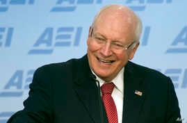 FILE - Former Vice President Dick Cheney speaks at the American Enterprise Institute in Washington, Sept. 10, 2014. Newly declassified documents show that a quarter-century ago, the then-defense secretary told allies the U.S. should not consider mili