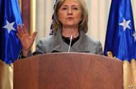 Clinton to Push for Wider Kosovo Recognition