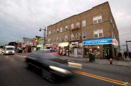 Arabic writing is seen store signs along Main Street in Paterson, N.J., Nov. 1, 2017.