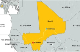 Map of Timbuktu, Mali