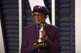 Spike Lee arrives at the Vanity Fair Oscar Party on Sunday, Feb. 24, 2019, in Beverly Hills, Calif.