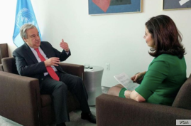 VOA interview with U.N. Secretary-General Antonio Guterres, February 5, 2019.