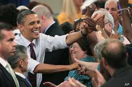 President Barack Obama at town meeting, July 16, 2012, in Ohio