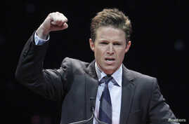 Television personality Billy Bush hosts the CinemaCon Big Screen Achievement Awards show at Caesars Palace in Las Vegas, Nevada, April 26, 2012.