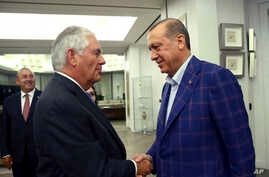 Turkey US erdgoan tillerson